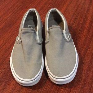 Gray Slip on Vans